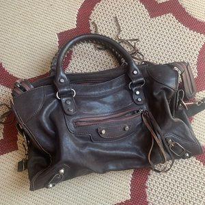 Balenciaga Style City Bag - Genuine Leather